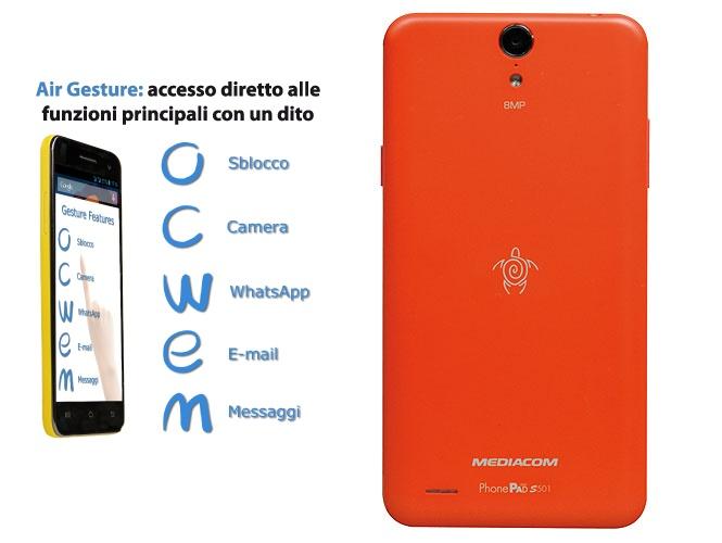 Air Gesture: il tuo phonepad segue le tue indicazioni.