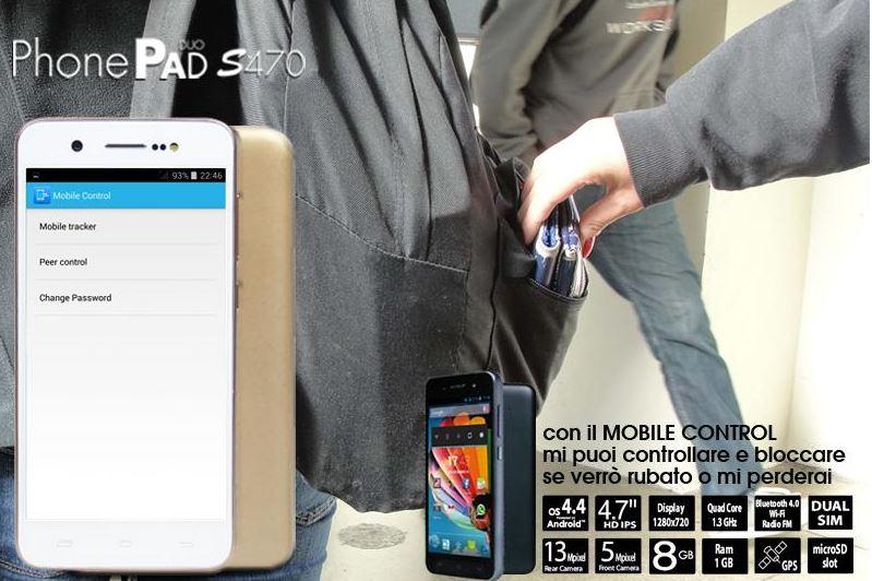 Mobile Control: Mediacom S470 a prova di ladri.