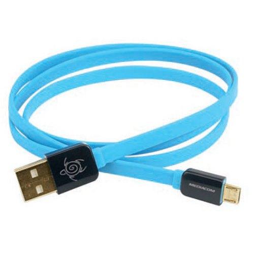 FluoCable micro usb Azzurro
