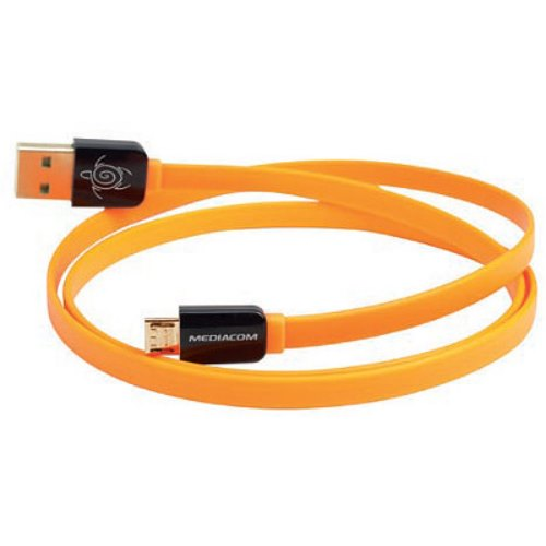 FluoCable MicroUsb Arancio