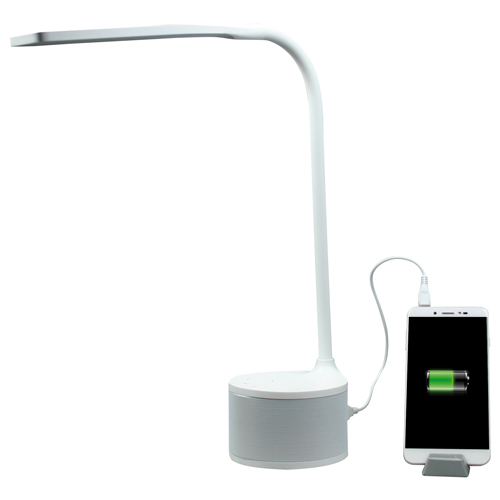 Lampada LED con charger USB e speaker Bluetooth