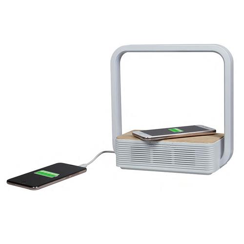 Lampada LED USB con wireless charger e speaker bluetooth