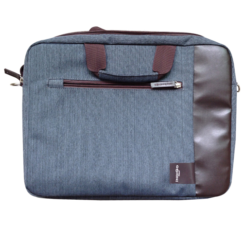 IndiGo Computer Bag Firenze Blu/Marrone 15.6